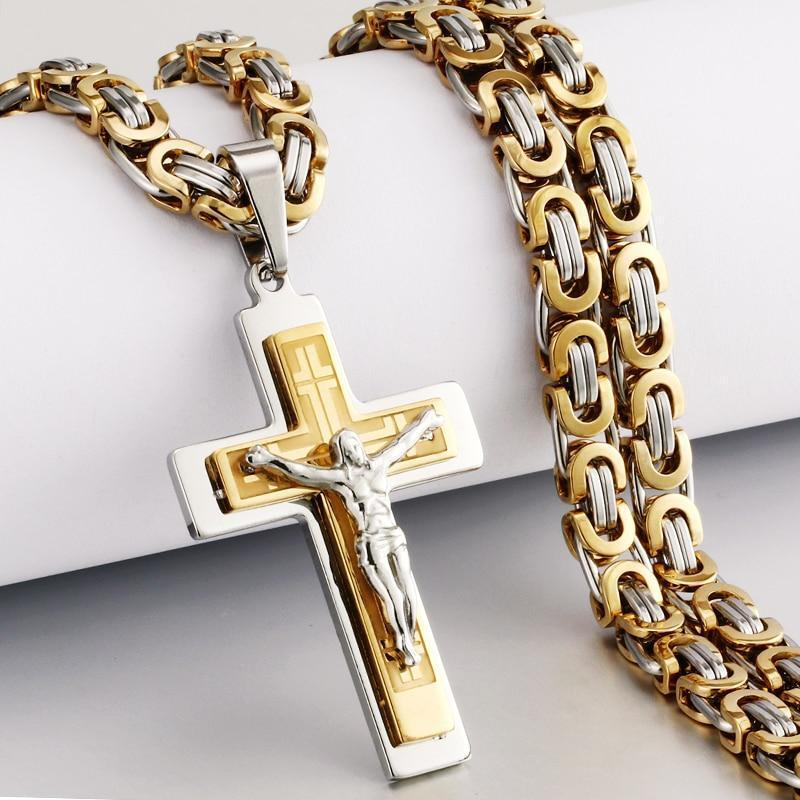BlessU™ Stainless Steel Crucifix Cross Necklace - Duvely Store