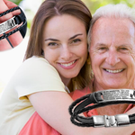 Daddy to daughter  woven steel bracelet