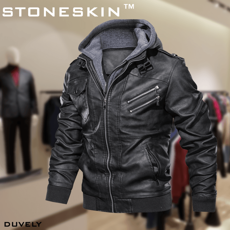 STONESKIN™ LEATHER OUTWEAR JACKET - Duvely Store