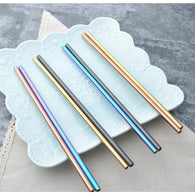 Multicolor Metal straw, Drinking Straws - The Best Tec