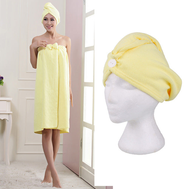 Microfiber Hair Turban Wrap,  - The Best Tec
