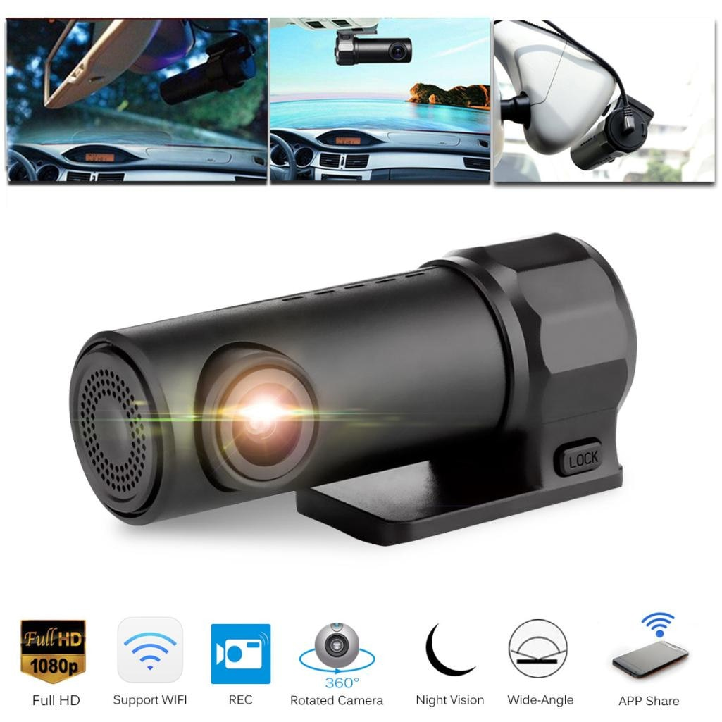 1080P Dash Cam Recorder Hidden Car Camera WIFI DVR
