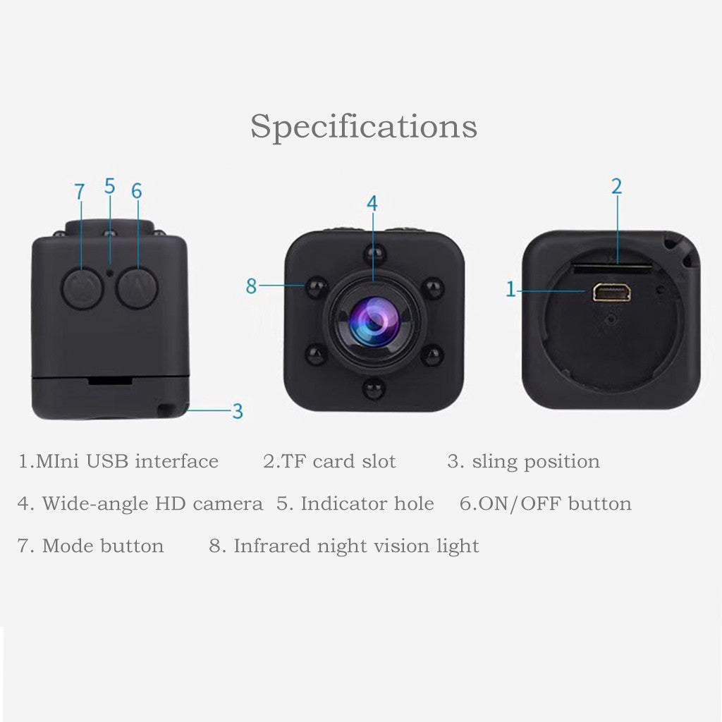 Portable Mini Camera  With Night Vision Motion