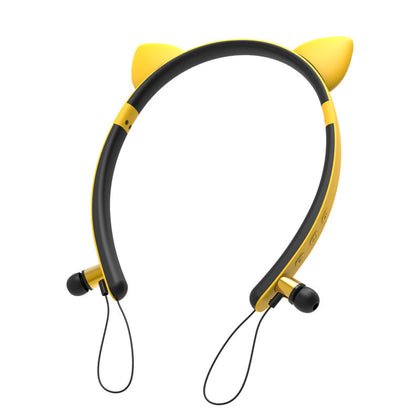 Cat ear bluetooth headset