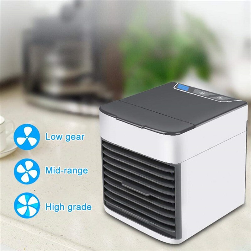 Mini Air Conditioner & Humidifier Portable USB Personal Room Cooling Device Desktop Fans for Home Office