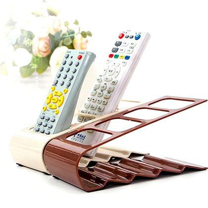 4 Grids Compartments TV Remote Controller Cellphone Stand Holder Storage Organiser Tools Rack Stand