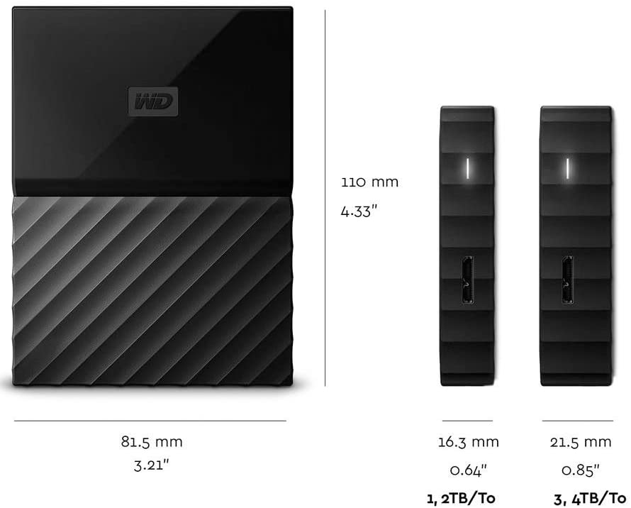 WD 2 TB External Portable Hard Drive My Passport for Mac 2.5