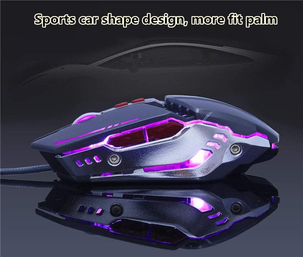 Wired Gaming Mouse Computer Notebook DPI USB Adjustable