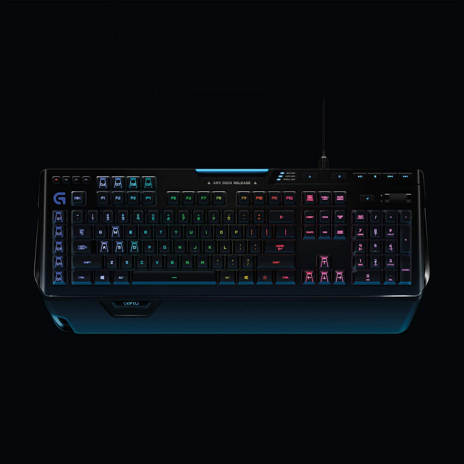 Logitech G910 Orion Spark RGB Mechanical Gaming Keyboard 9 Programmable Buttons Dedicated Media Controls