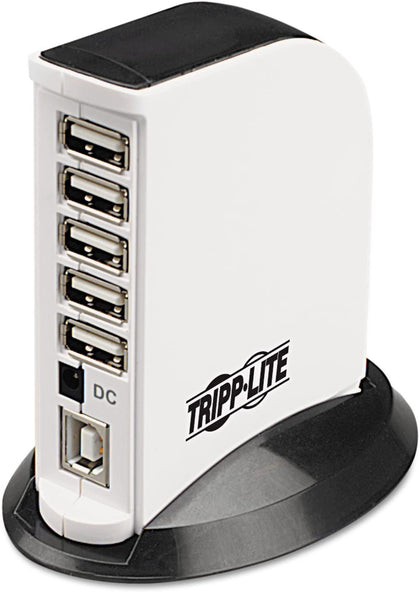 7-Port USB 2.0 Hi-Speed Hub Compact Desktop Mobile Tower