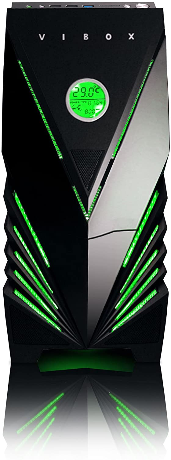 VIBOX Standard 3SW Gaming PC Computer with War Thunder Game Voucher (3.4GHz AMD A8 Quad-Core Processor, Radeon R7 Graphics Chip, 16GB DDR4 2133MHz RAM, 1TB HDD, No Operating System)