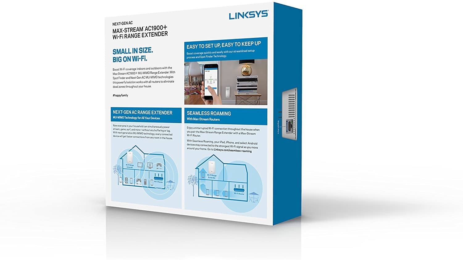 Linksys RE7000 Max-Stream AC1900+ WI-FI Range Extender