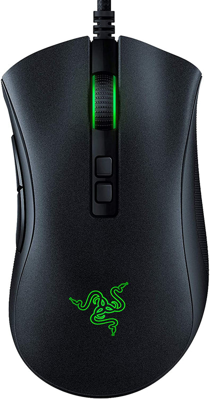 Razer DeathAdder V2 Wired USB Gaming Mouse with Optical Mouse Switches, Focus+ 20K Optical Sensor, 8 Programmable Buttons and Best-in-class Ergonomics