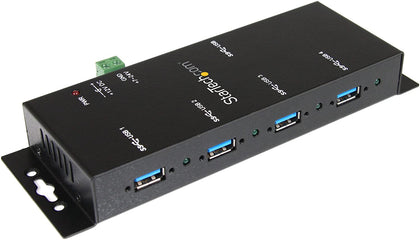 4 Port Industrial Extension USB 3.0 Hub Mountable Rugged