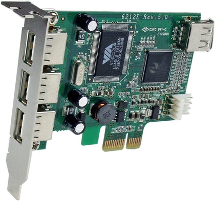 4 Port PCI Express USB 2.0 Card Low Profile High Speed USB