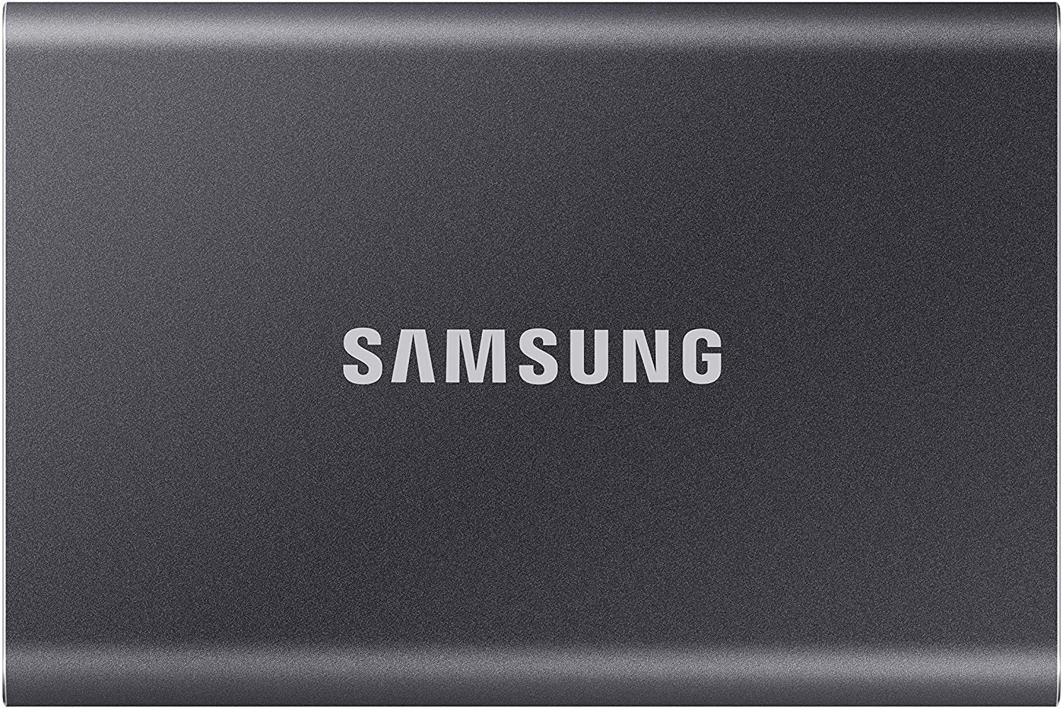 Samsung T7 MU-PC500T-AM 500 GB Portable Solid State Drive - External - PCI Express NVMe - Titan Gray