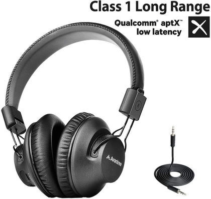 Avantree Audition Procast Bluetooth 5.0 Broadcast Headphones with APTX Low Latency