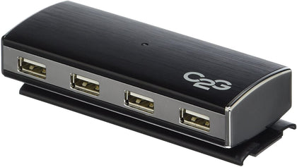 7-Port USB 2.0 Aluminum Hub for Chromebooks Laptops and Desktops