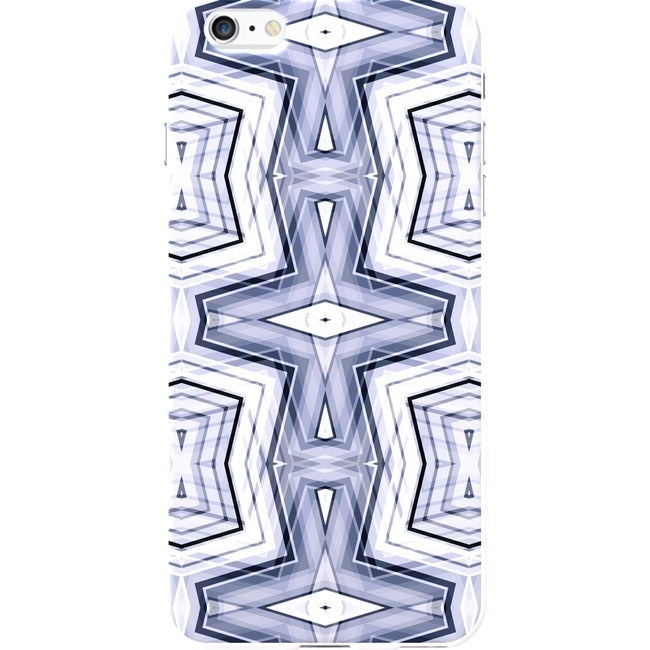 OTM iPhone 6 Plus White Glossy Case New Age Collection, Geometric