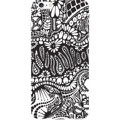 OTM iPhone 6 Plus White Glossy Case New Age Collection, Paisley