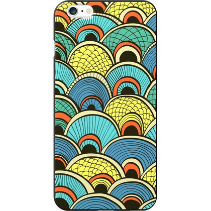 OTM Classic Prints Black Phone Case, Tahitian Peacock - iPhone 6 Plus