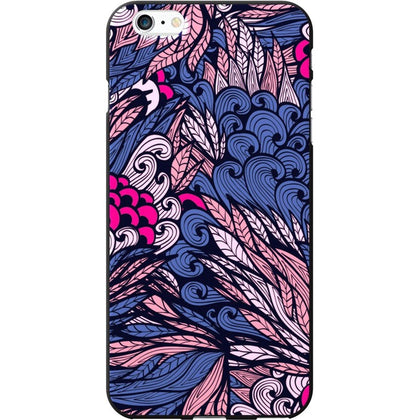 OTM iPhone 6 Plus Black Matte Case Tahitian Collection, Pink-Purple