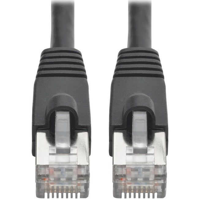 Tripp Lite Cat6a Snagless Shielded STP Patch Cable 10G, PoE, Black M-M 10ft