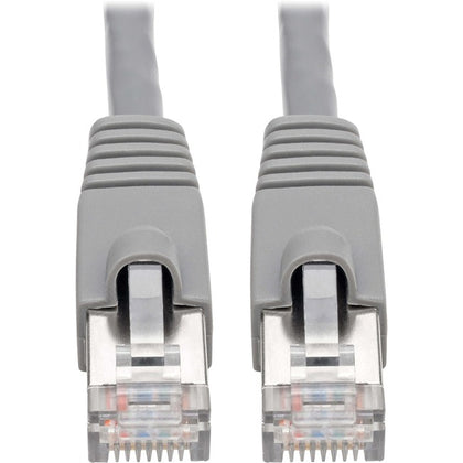 Tripp Lite Cat6a Snagless Shielded STP Patch Cable 10G, PoE, Gray M-M 5ft