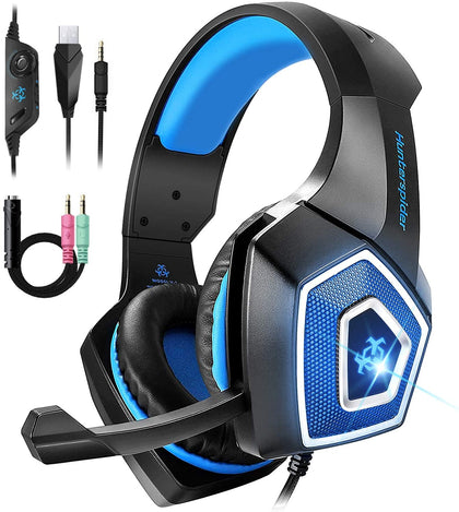 Hunterspider Gaming Headset RGB Lighted Wired Headset