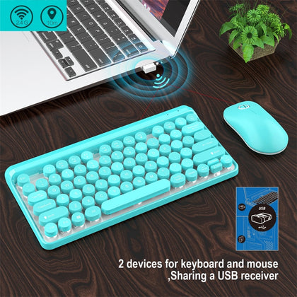 Keyboard and Mouse Set USB Interface 2.4G Wireless Ergonomic Design