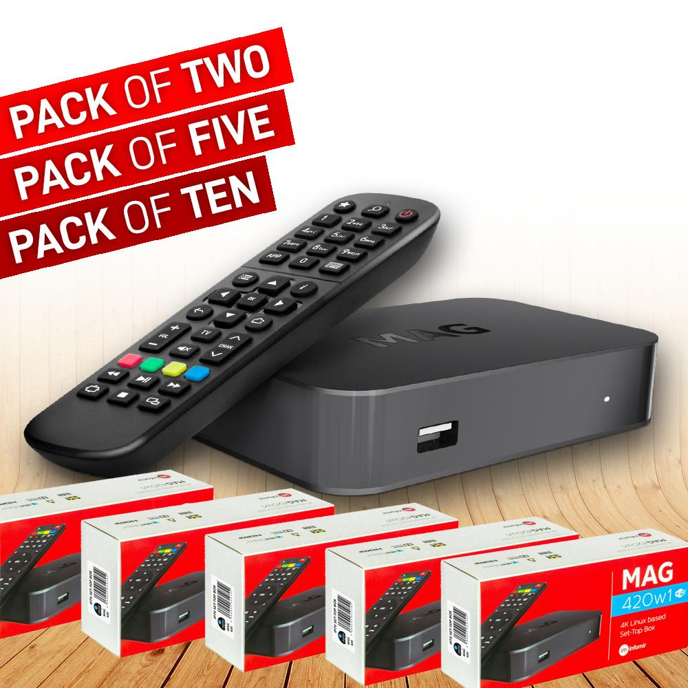 MAG 420 W1 Set-top box with 4K support Bundle Packs