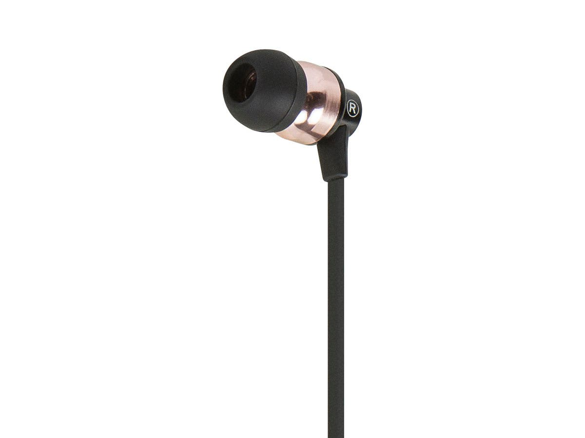 Monoprice, Inc. Earphones W- Microphone-black-bronze