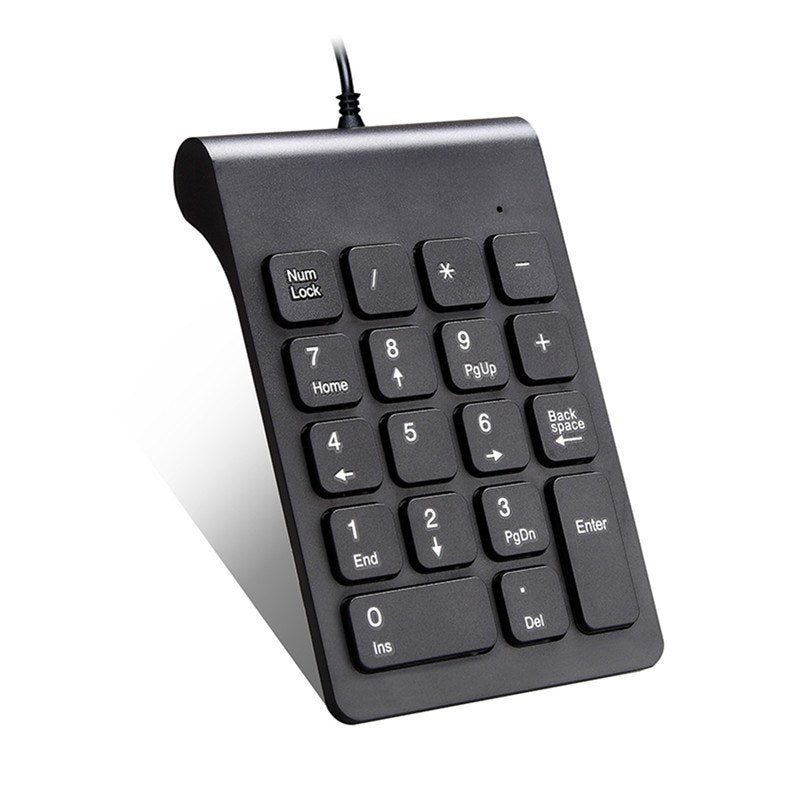 Wired Mini Numeric Keyboard USB Plug & Play Quiet Soft Touch Color Black