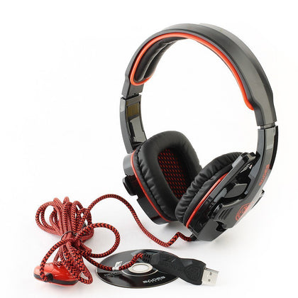 Sades SA901 Over Ear 7.1 Surround Noise Cancelling PC Gaming Headset with Microphone
