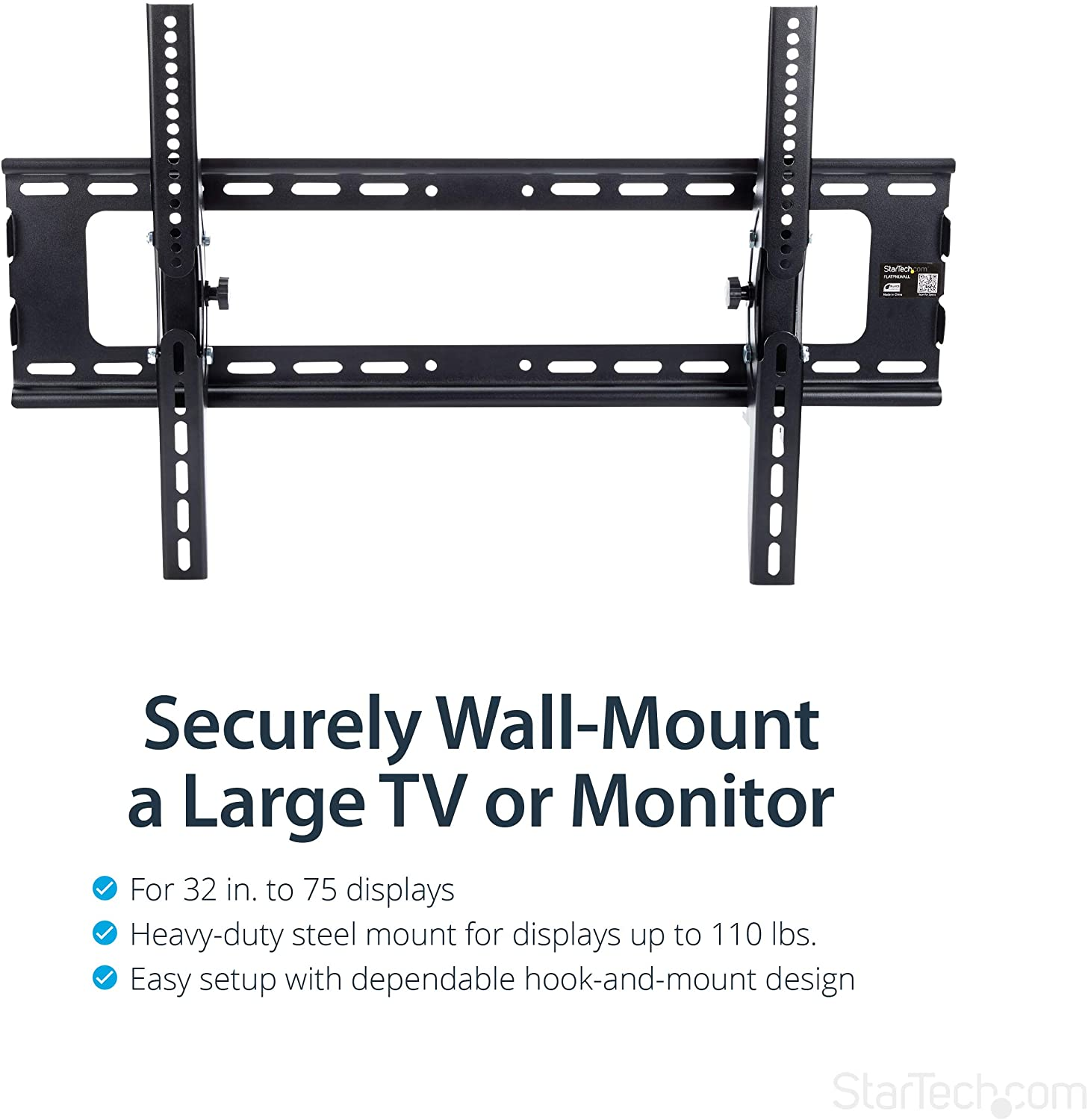 StarTech.com Flat Screen TV Wall Mount - Tilting - For 32