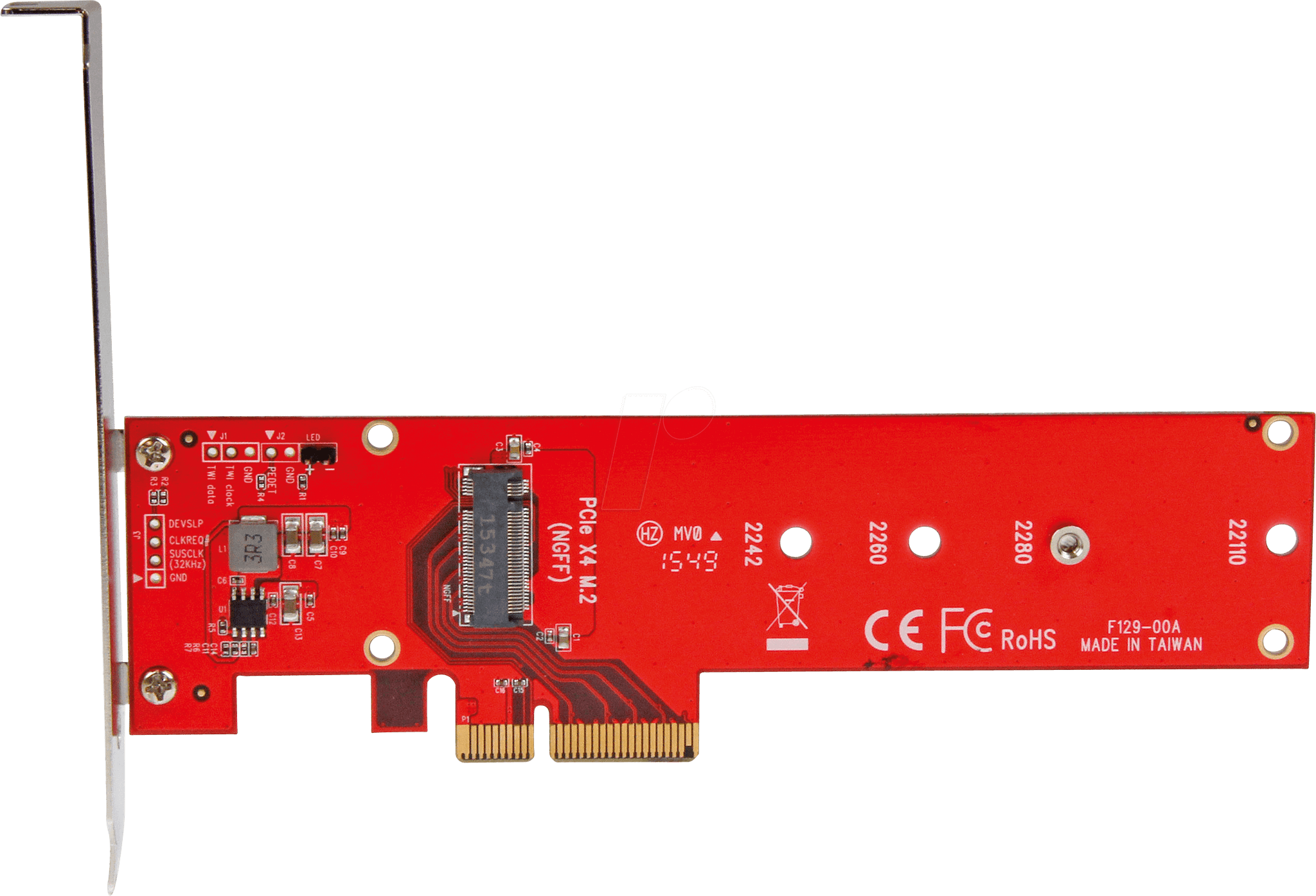 StarTech.com x4 PCI Express to M.2 PCIe SSD Adapter - M.2 NGFF SSD (NVMe or AHCI) Adapter Card