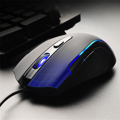Ergonomic Gaming Mouse With LED