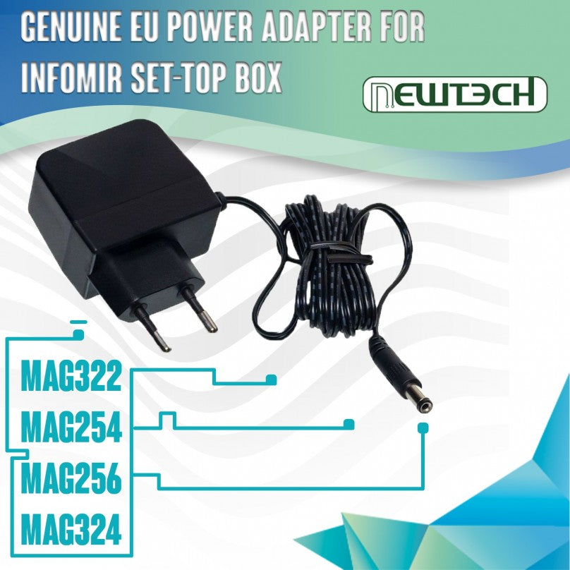 Genuine EU Power Supply for Infomir 12V 1A MAG322 MAG254 MAG256 MAG324