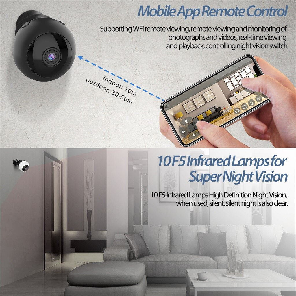 W8 HD 1080P Mini Camera Wifi Infrared Night Vision High Definition