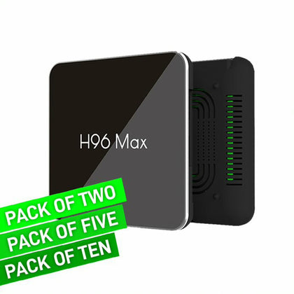 H96 Max X2 HEVC IPTV Set Top Box 4GB RAM + 64GB ROM Bundle Packs
