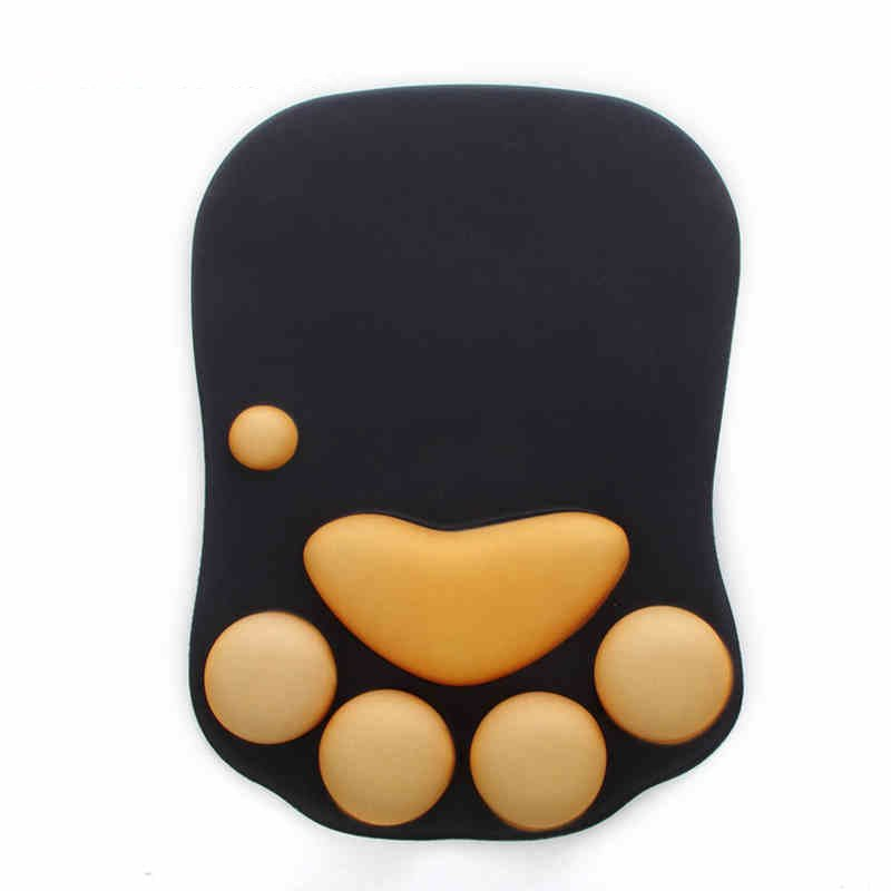 Gel Mouse Pad Cat Claw Comfortable Soft Memory Foam Comfort Wrist Rest