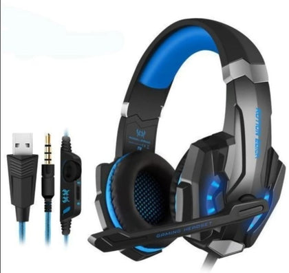 LED Gaming Headset w/ Microphone Over-Ear Super Soft Pads Noise Isolation