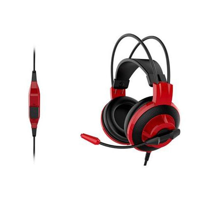 Gaming Headset MSI DS501 Wired Ergonomic Extra Lightweight Improved Noise Reduction