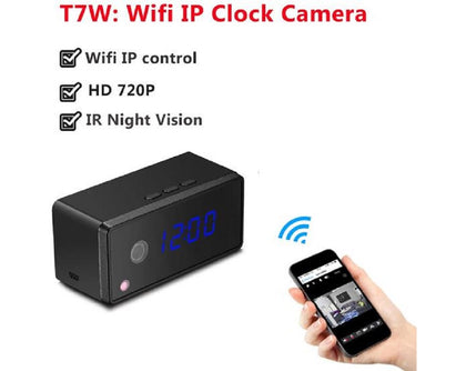 Hidden Camera Alarm Clock HD Infrared Light Night Vision Digital Display