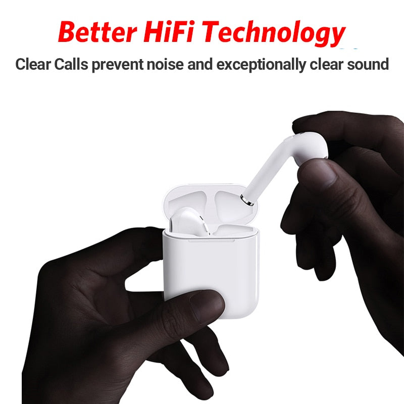 New wireless i9 stereo earpods with bilateral phone call function