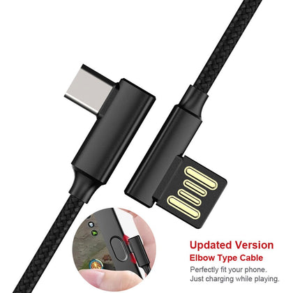 Micro USB Type C 90 Degree Right Angle Fast Charging