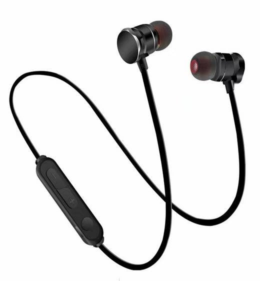Bluetooth Magnetic Headphones  with Microphone, Stereo Bass Earphones, in-Ear Sport Earbuds Compatible with iOS, Android