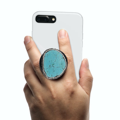 Coolgrips Jewel Turquoise Phone Grip + Stand