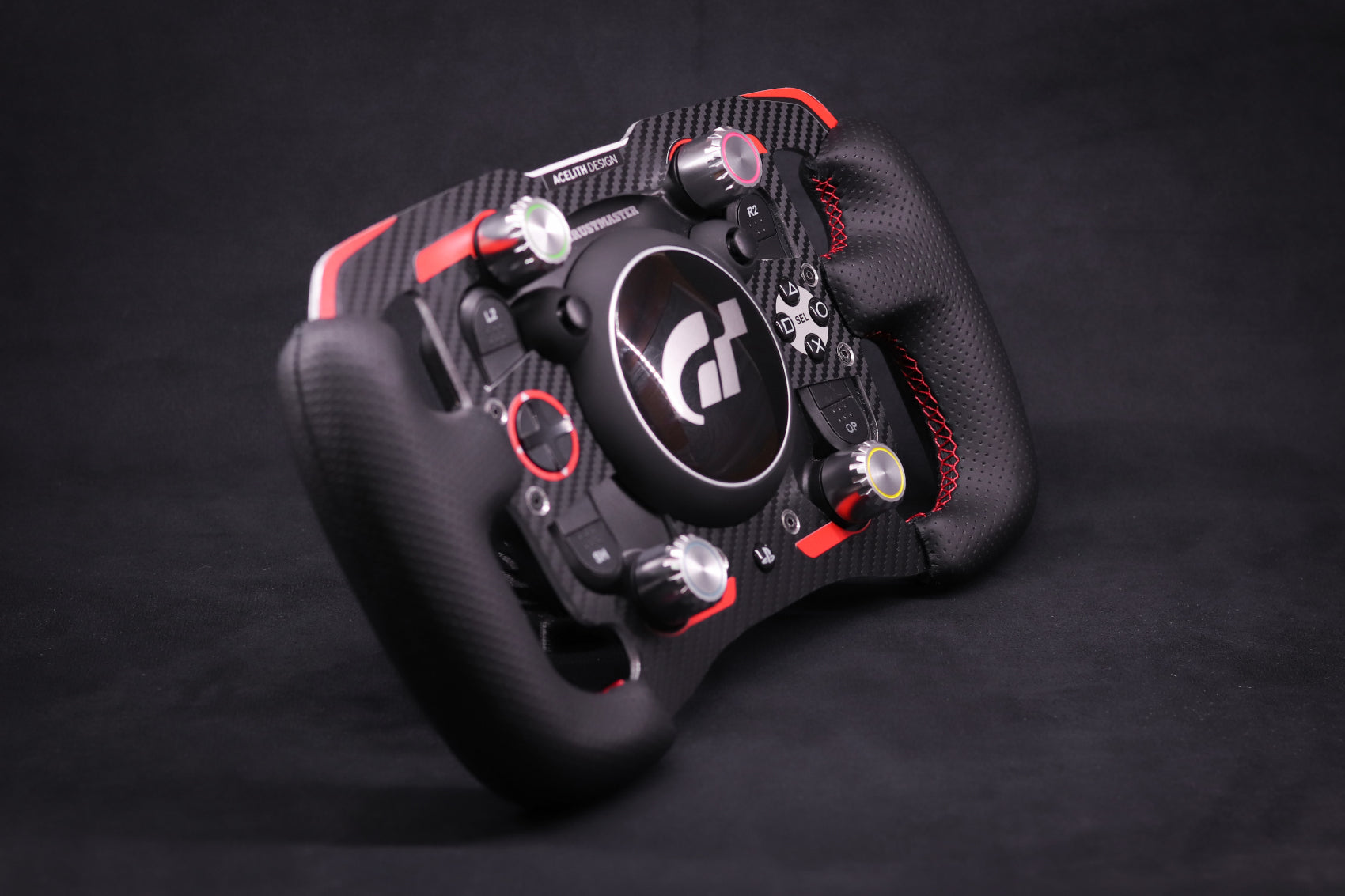 LIMITED - MOD for Thrustmaster T-GT with leather handles - Red