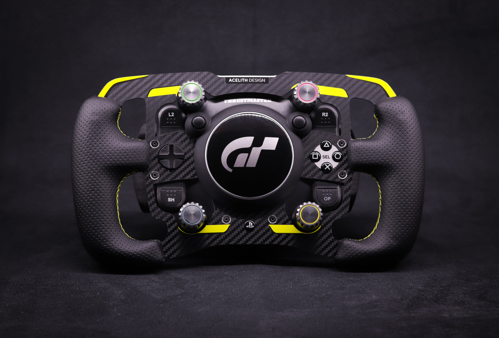 LIMITED - MOD for Thrustmaster T-GT with leather handles - Yellow